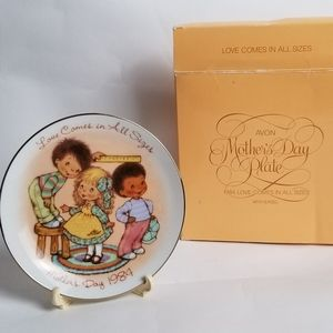 1984 Avon mothers day plate